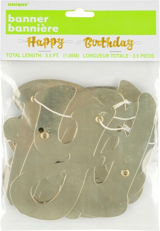 Ilmapallokeskus Happy Birthday Nauha Kulta 1,07 M