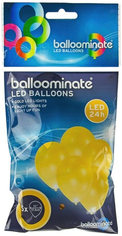 Balloominate led-ilmapallo 5kpl kulta