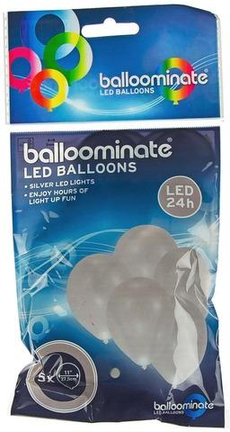 Balloominate Led-Ilmapallo 5Kpl Hopea