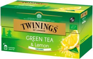 Twinings 25X1,5g Green Tea & Lemon Luomu