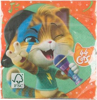 44 Kissaa 33 Cm Lautasliina 16 Kpl