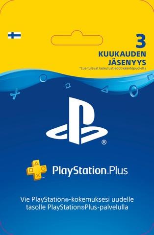 Playstation Plus 3Kk Jäsenyys
