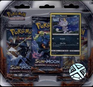 Pokemon Sun & Moon Burning Shadows Three-Booster Blister Keräilykortit