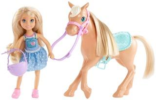 Barbie Chelsea Ja Poni Nukkesetti