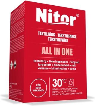 Nitor Tekstiiliväri All In One 230G Punainen