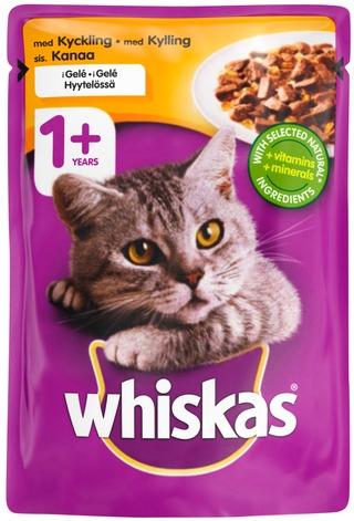Whiskas 1+ Kanaa hyytelössä 100g