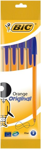 Bic Kuulakynä Orange 4Kpl Sininen Muste