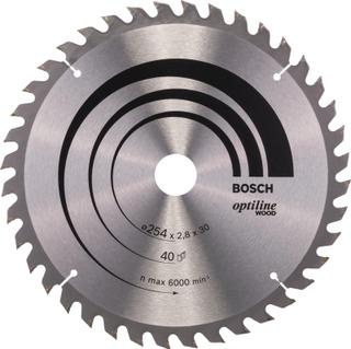 Bosch Pyörösahanterä Optiline Wood 254 X 2,8 X 30 Mm