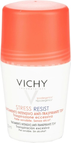 Vichy Stress Resist 72Hr Anti Perspirant Treatment Sensitive Skin - Alcohol free