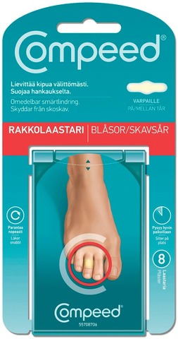 Compeed Rakkolaastari Varpaille 8Kpl