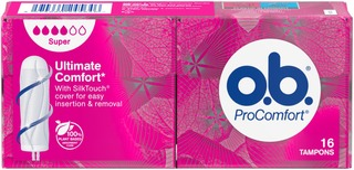 o.b.® ProComfort Super tamponi 16 kpl