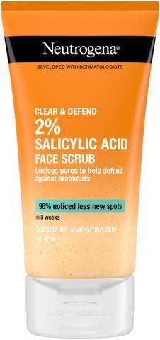 Neutrogena Clear & Defend Facial Scrub kuorintavoide 150 ml