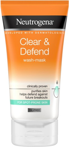 Neutrogena Clear & Defend Wash-Mask Puhdistusnaamio 150 Ml