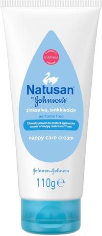 Natusan By Johnson's 3In1 Nappy Care Cream Sinkkivoide 100Ml