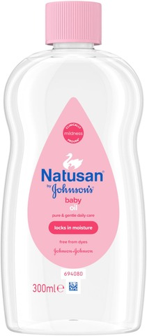 Natusan By Johnson's Baby Oil Hoitoöljy 300Ml