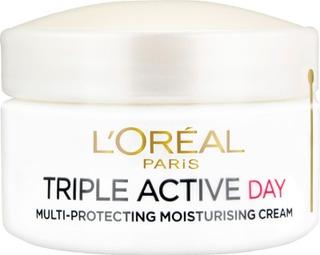 L'Oréal Paris Triple Active suojaava kosteusvoide kuivalle ja herkälle iholle 50ml