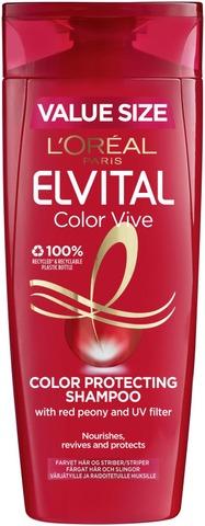 L'oréal Paris Elvital Color-Vive Shampoo Värjätyille Ja Raidoitetuille Hiuksille 400Ml
