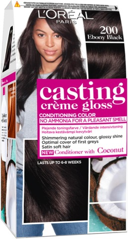 L'oréal Paris Casting Crème Gloss 200 Ebony Black Musta Kevytväri 1Kpl