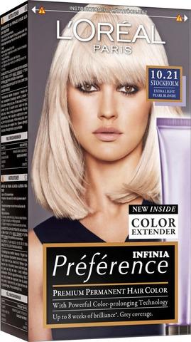 L'oréal Paris Préférence Infinia 10.21 Stockholm Extra Light Pearl Blonde Erittäin Kirkas Helmiäisvaalea Kestoväri 1Kpl