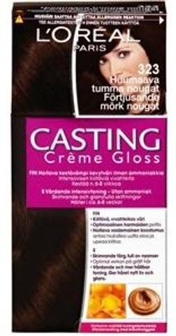 L'oréal Paris Casting Crème Gloss 323 Dark Chocolate Tummanruskea Helmiäinen Kevytväri 1Kpl