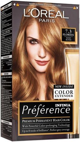L'oréal Paris Préférence Infinia 7.3 Florida Honey Blonde Keskivaalea Kulta Kestoväri 1Kpl