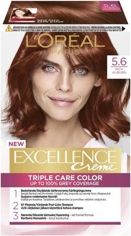 L'oréal Paris Excellence Creme 5.6 Punaruskea Kestoväri 1Kpl