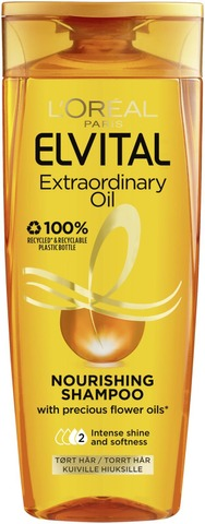 L'oréal Paris Elvital Extraordinary Oil Shampoo Normaaleille Ja Kuiville Hiuksille 250Ml
