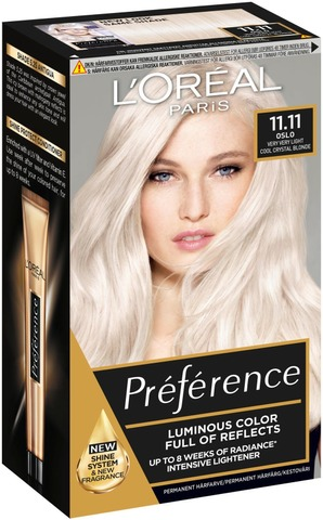 L'oréal Paris Préférence Blondissimes 11.11 Ultra Light Erittäin Kirkas Viileä Kestoväri 1Kpl