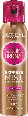 L'oréal Paris Sublime Bronze Express Pro Itseruskettava Kuivasumute Vartalolle 150Ml
