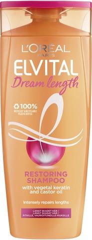 L'oréal Paris Elvital Dream Length Restoring Shampoo Pitkille, Vaurioituneille Hiuksille 250Ml