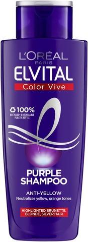 L'oréal Paris Elvital Color Vive Purple Violetinvärinen Hopeashampoo 200Ml