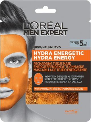 L'oréal Paris Men Expert Hydra Energetic Virkistävä Kangasnaamio 30G