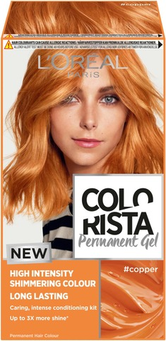 L'oréal Paris Colorista Permanent Gel #Copper Kestoväri 1Kpl