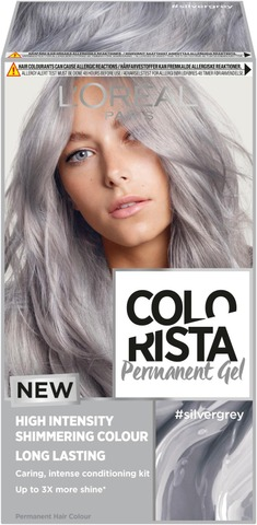 L'oréal Paris Colorista Permanent Gel #Silvergrey Kestoväri 1Kpl