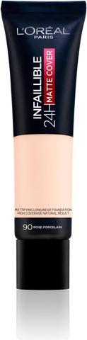 L'oréal Paris Infaillible 24H Matte Cover 90 Rose Porcelain Meikkivoide 30Ml