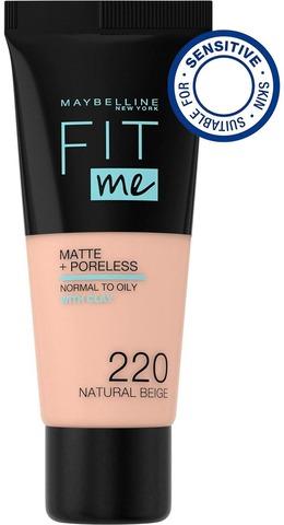 Maybelline New York Fit Me Matte+Poreless -Meikkivoide 220 Natural Beige 30Ml