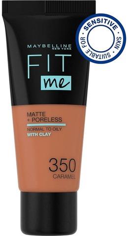 Maybelline New York Fit Me Matte+Poreless -Meikkivoide 350 Caramel 30Ml