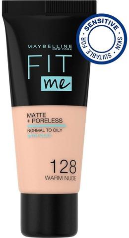 Maybelline New York Fit Me Matte+Poreless -Meikkivoide 128 Warm Nude 30Ml