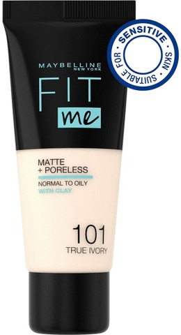 Maybelline New York  Fit Me Matte + Poreless 101 True Ivory -Meikkivoide 30Ml