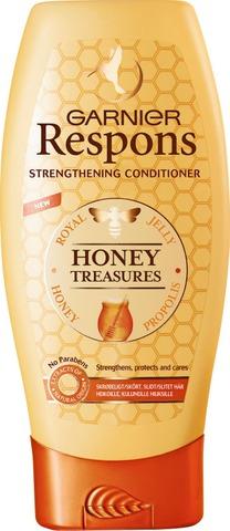 Garnier Respons Honey Treasures Vahvistava Hoitoaine Heikoille Ja Kuluneille Hiuksille 200Ml