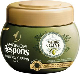 Garnier Respons Mythic Olive Hiusnaamio Erittäin Kuiville Ja Käsitellyille Hiuksille 300Ml