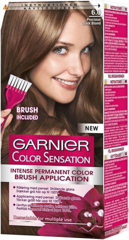 Garnier Color Sensation 6.0 Precious Dark Blond Vaaleanruskea Kestoväri 1Kpl
