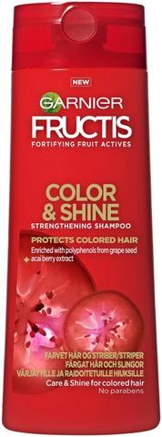 Garnier Fructis Color & Shine Shampoo Värjätyille Ja Raidoitetuille Hiuksille 250Ml