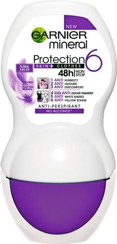 Garnier Mineral Deodorant 50ml Protection 6 roll-on antiperspirantti 50ml