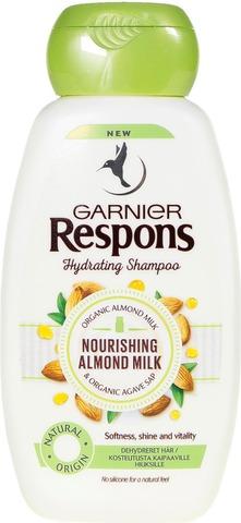 Garnier Respons Nourishing Almond Milk Shampoo Kosteutusta Kaipaaville Hiuksille 250Ml