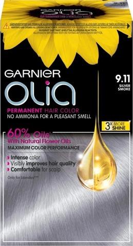 Garnier Olia 9.11 Metallic Silver Kestoväri 1Kpl