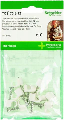 Schneider Ruuvikiinnike Tcs-C3 8-12 10Kpl Valkoinen