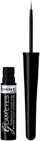 Rimmel 3,5Ml Glam'eyes Professional Liquid Eyeliner Nestemäinen Silmänrajausväri 001 Black Glamour