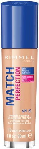 Rimmel 30Ml Match Perfection Foundation Spf 20 Light Porcelain Meikkivoide