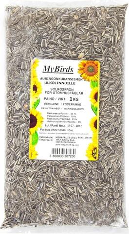 MyBirds 1 kg auringonkukansiemen ulkolinnuille